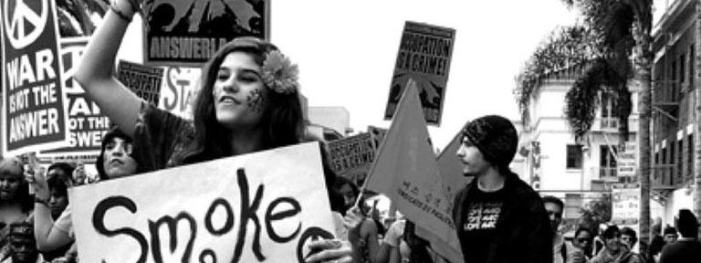 New Activist Hippies Demonstration