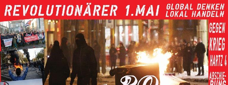 Plakat - Revolutionärer 1. Mai 2017 Berlin - Interabend
