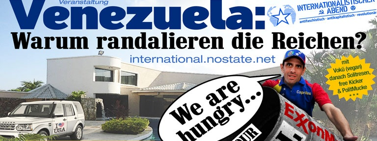 Venezuela Veranstaltung mit Harri Grünberg