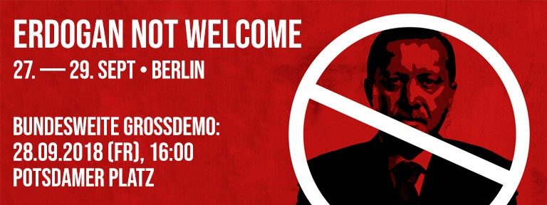 Banner - Erdogan not welcome