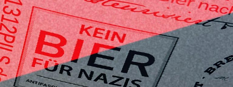 Banner - Kein Bier für Nazis