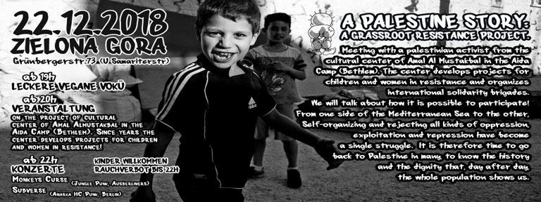 Poster event 22 Dez 2018 Palestine grassroots