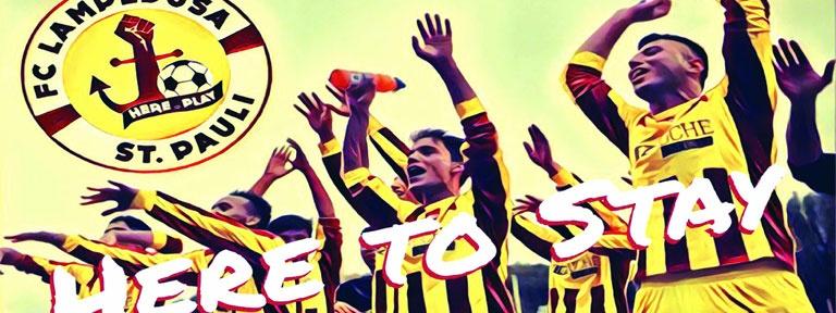 Plakat zur Veranstaltung FC Lampedusa St. Pauli
