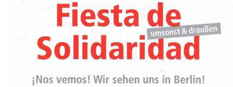 Plakat Fiesta de Solidaridad