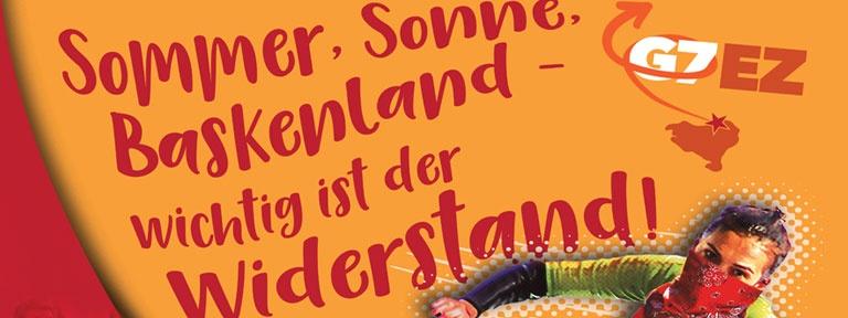 Stop G7 Poster - Sommer Sonne Baskenland