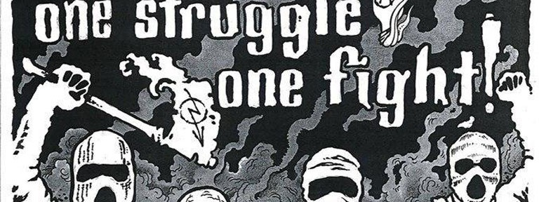 Plakat One Struggle One Fight Demo