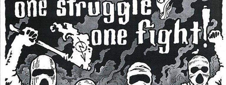 Plakat One Struggle One Fight Demo