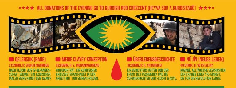 Plakat Soli für Rojava Filmscreening