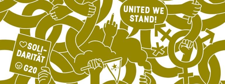 Plakat Solitresen Gemeinschaftlicher Widerstand