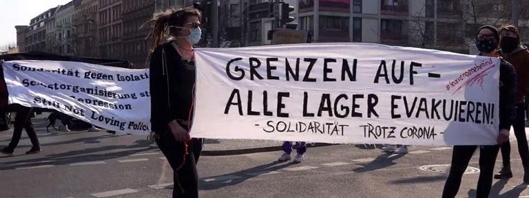 Foto Kottbusser Tor Berlin Kreuzberg Corona Protest