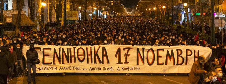 Foto: 01.03.2021 - Tausende auf Demo in Athen in Solidarität mit Dimitris Koufontinas - Image Censored by Facebook