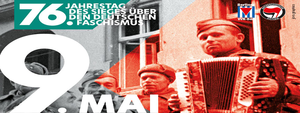 Plakat zum 9. Mai VVN Tag der Befreiung