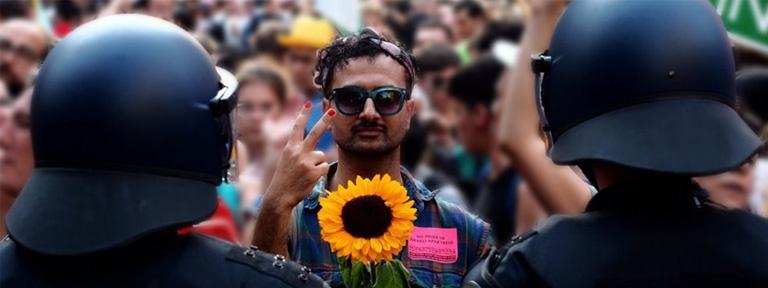 Foto from alternative queer march berlin 2019