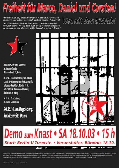 demo moabit plakat