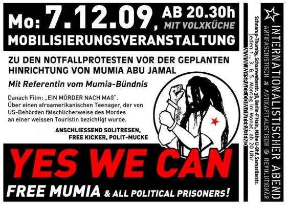 yes we can free mumia