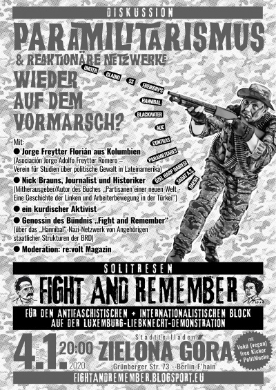 LL Mobi Fight and Remember gegen Paramilitarismus