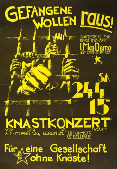 1990er Knastkonzert im April Demo am 1 Mai