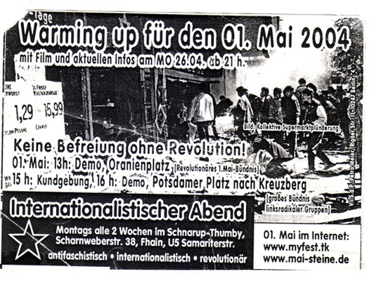 2004 Warn up 26 April Internationalistischer Abend