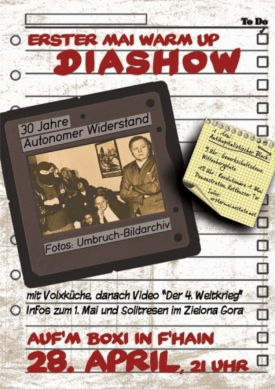 2010 Warm up Diashow Internationalistischer Abend aufm Boxi